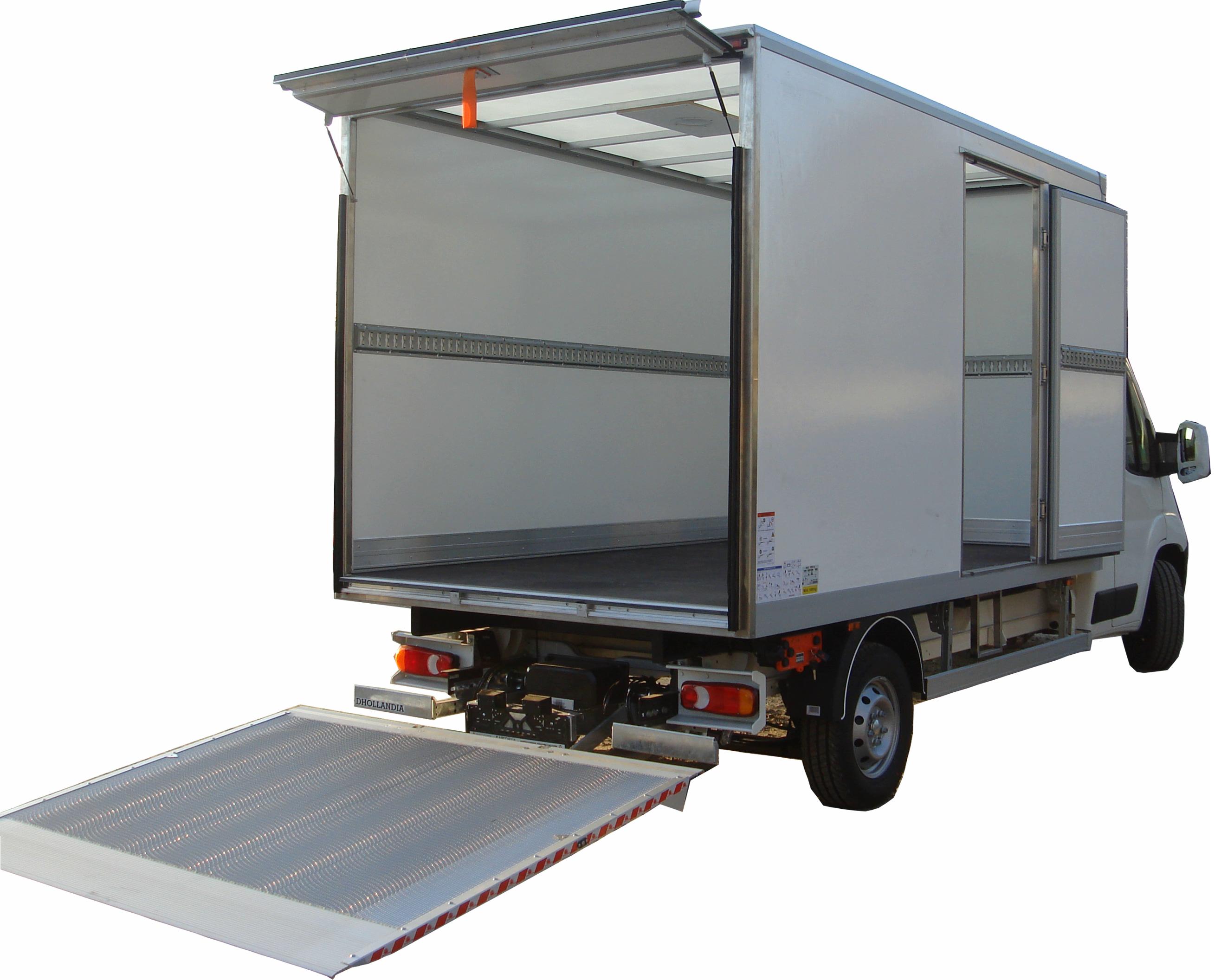 Промтоварный кузов с тонкостенными сендвич бортами 30мм и прозрачной пластиковой крышей